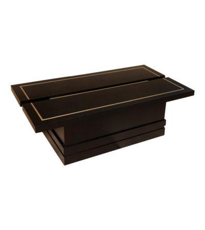 Adam Rectangular Dark Brown Coffee Table