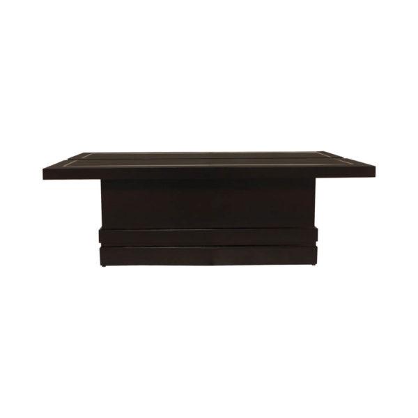 Adam Rectangular Dark Brown Coffee Table Front