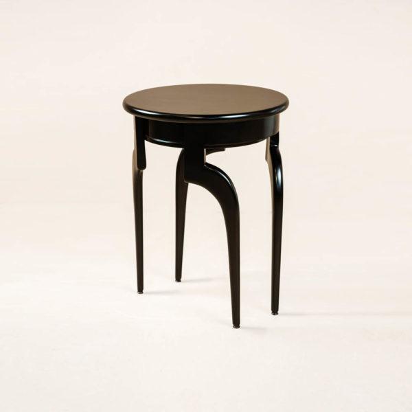 Adney Circular Curved Leg Side Table