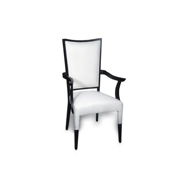 Agustin Upholstered Dining Chair with Arms Side