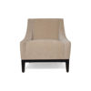 Alessandro Upholstered Single Seat Armchair with Black Wood Base 1