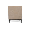 Alessandro Upholstered Single Seat Armchair with Black Wood Base 4