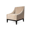 Alessandro Upholstered Single Seat Armchair with Black Wood Base 2