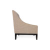 Alessandro Upholstered Single Seat Armchair with Black Wood Base 3