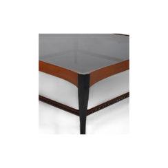 Allegra Square Glass Coffee Table UK Leg