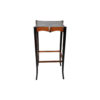 Allegra Square Glass Side Table with Wooden Legs 1