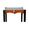 Allegra Square Glass Side Table with Wooden Legs 2