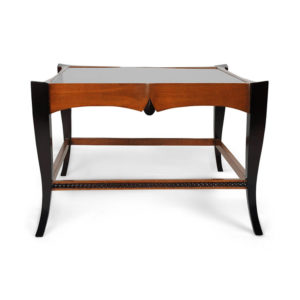 Allegra Square Wood And Glass Side Table
