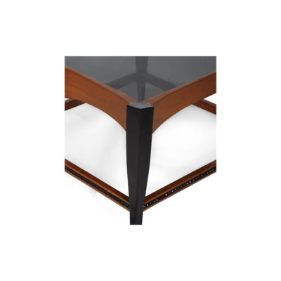 Allegra Square Wood And Glass Side Table Details