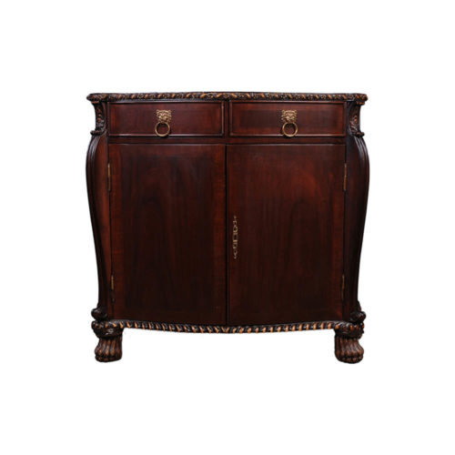 Antique Chest with Wooden Hand Carved