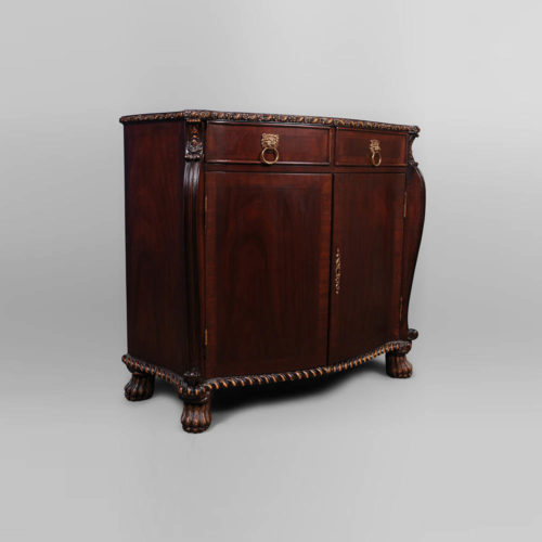 Antique Chest with Wooden Hand Carved Beside View