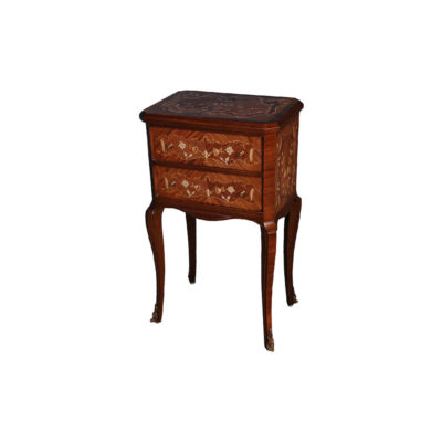 Antique Side Table with Two Drawers