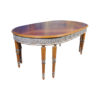 Antique Style Dining Table with Hand Carved Wood Sculptures 8 Legs 1
