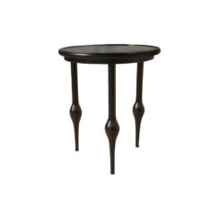 Arledge Round Side Table with 3 Lath Legs