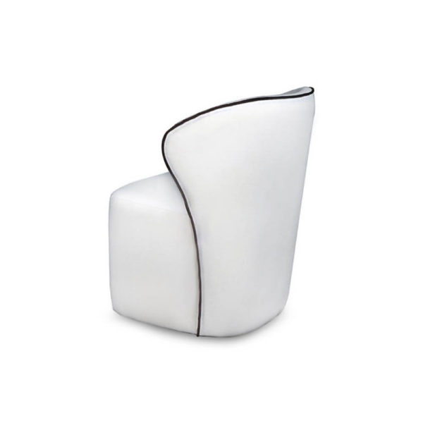 Arman Upholstered Wing Back Accent Chair Back View
