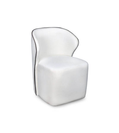 Arman Upholstered Wing Back Accent Chair Side View