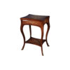 Ava French Side Table with Shelf and One Drawer 1