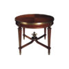 Avers French Style Round Side Table with Copper Ornament 1