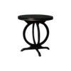 Bastian Circular Black Curved Side Table 1