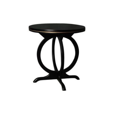 Bastian Circular Black Curved Side Table