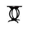 Bastian Circular Black Curved Side Table 2