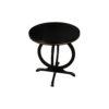 Bastian Circular Black Curved Side Table 5