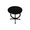 Bastian Circular Black Curved Side Table 4