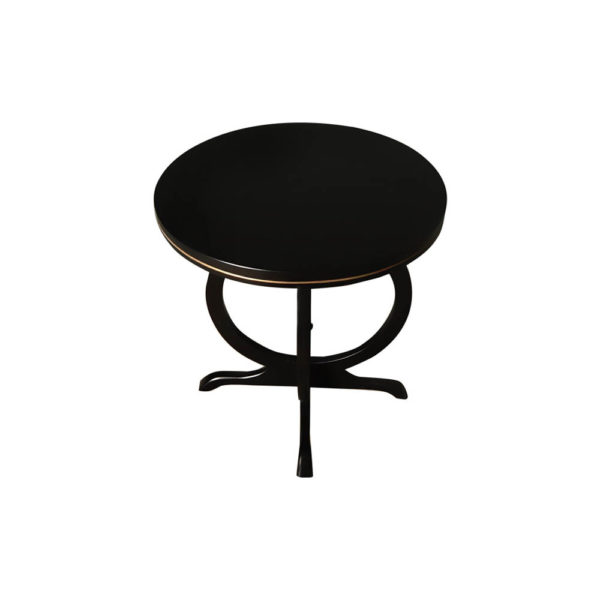 Bastian Circular Black Curved Side Table Top