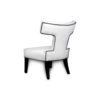 Benjamin Upholstered Curved Back Dining Chair 3