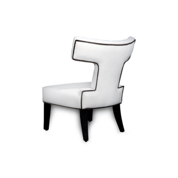Benjamin Upholstered Curved Back Dining Chair Back View