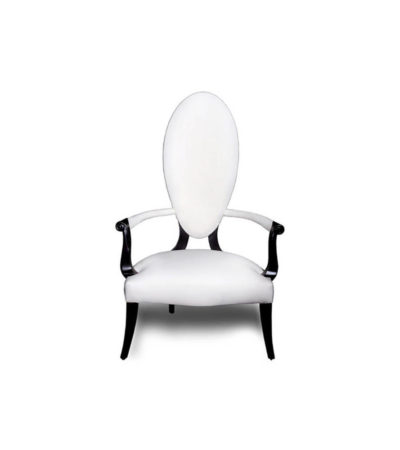 Beverly Upholstered Oval Back Accent Chair