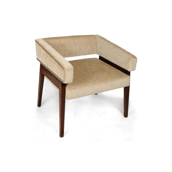Capri Upholstered Square Winged Armchair