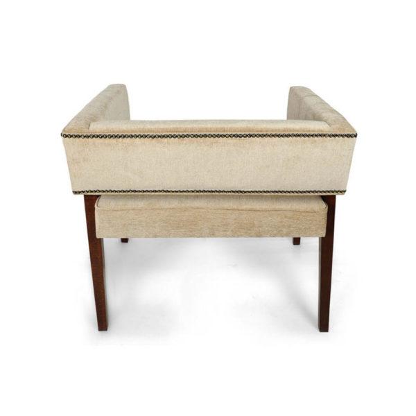 Capri Upholstered Square Winged Armchair Back