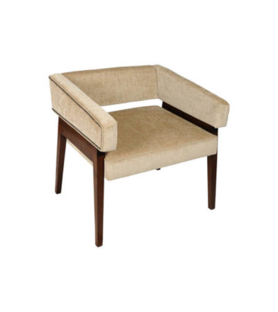 Capri Upholstered Square Winged Armchair View