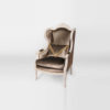 Colonial Hand Carved Wing Chair with Upholstery Luxury Velvet 4