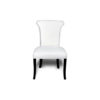 Earl Upholstered Curved Dining Chair with Wooden Black Legs 1