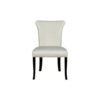 Earl Upholstered Curved Dining Chair with Wooden Black Legs 3