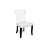 Earl Upholstered Curved Dining Chair with Wooden Black Legs 2