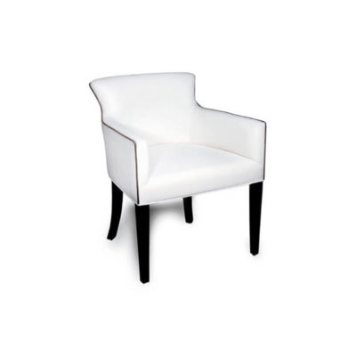 Eaton Upholstered Curved Arm Rest Chair Side View