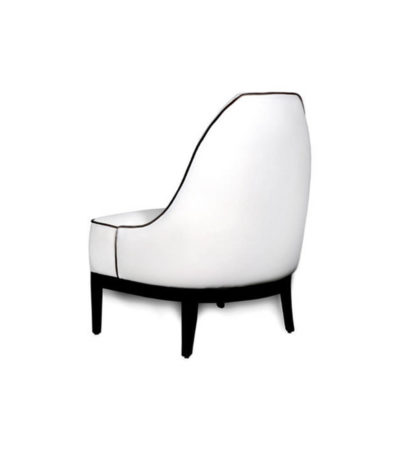 Eddison Armless Upholstered Accent Chair Back View