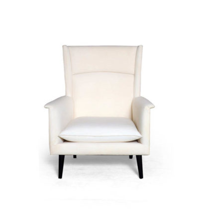Eden Upholstered Square Chair with Arm Rest