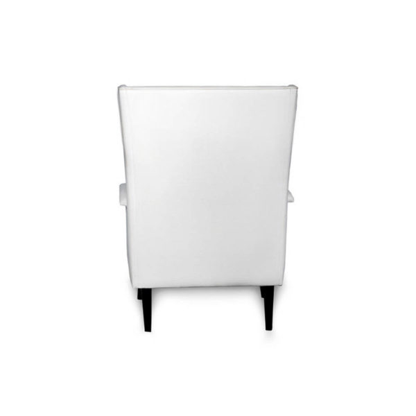 Eden Upholstered Square Chair with Arm Rest Back
