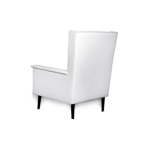 Eden Upholstered Square Chair with Arm Rest Back View