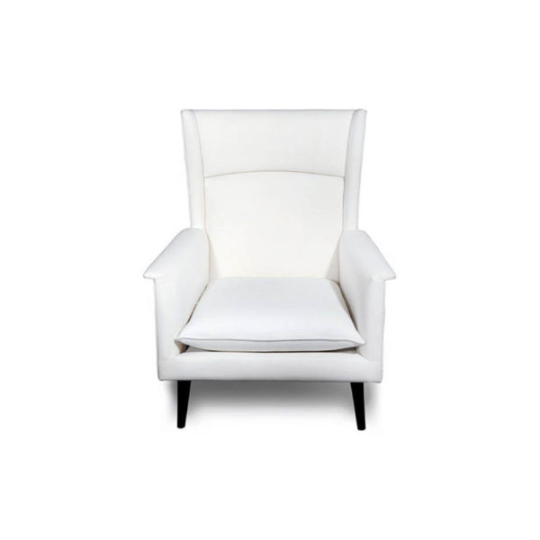 Eden Upholstered Square Chair with Arm Rest Front View