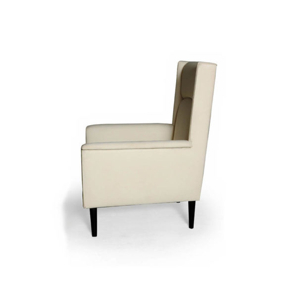 Eden Upholstered Square Chair with Arm Rest Side