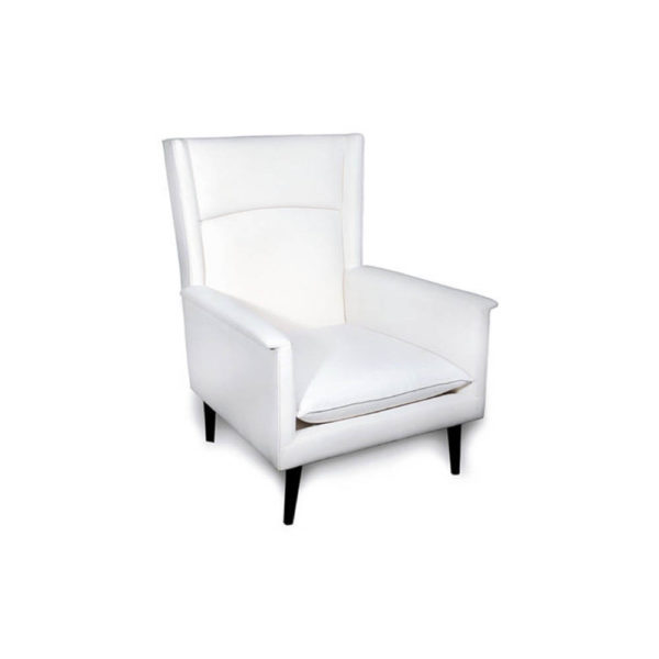 Eden Upholstered Square Chair with Arm Rest Side View