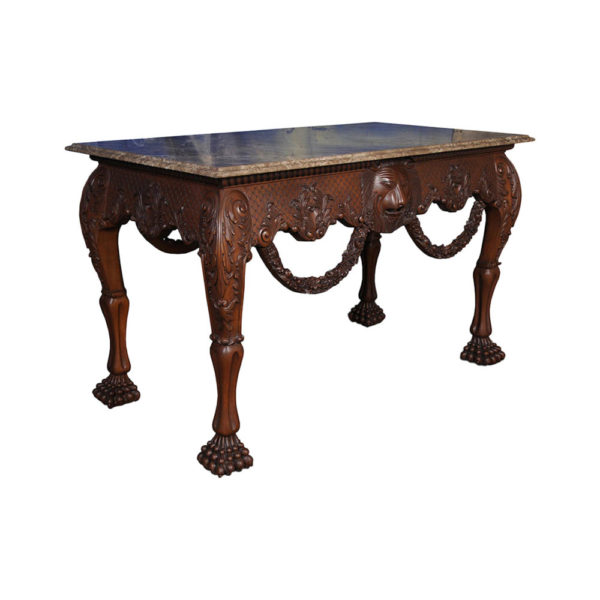 Edmonstone Elegant English Console Table Antique Hand Carved