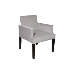 Edmund Upholstered Square Arm Chair with Wooden Legs