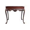 Edna Shabby Chic Console Table with Wooden Hand Carved Detailed 1