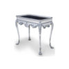 Edra Distressed Painted Console Table with Hand Carved Wood 1